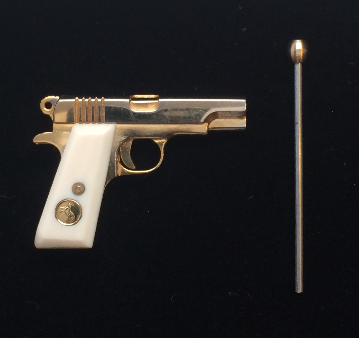 COLT 1911-2mm Pinfire Gun USA's 24K Gold Plated Pistol ...