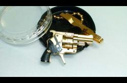 SOLD-24K Gold Plated Xythos Pinfire Gun Round Case-GXRP1