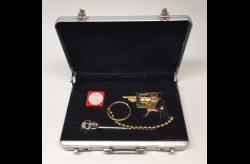 SOLD--Gold Xythos w/Chain & Case-GX5KCSB1.B