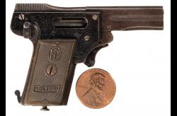 "2.7mm ""Kolibri"" Miniature Semi-Automatic Pistol w/ 2 Cartridges"