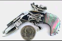 MOM Guns-2mm Pinfire Dragon Cutlass Pistol w/Shell Grips-MOMMPDR